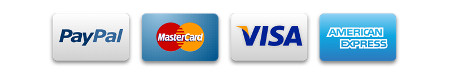 We accept Visa, Mastercard, and American Express via PayPal